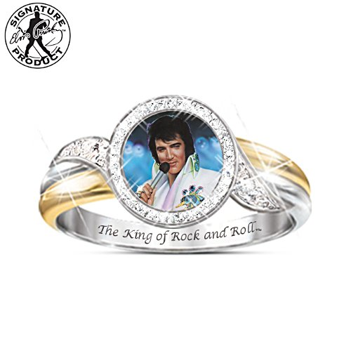 Embrace The King Engraved Elvis Ring