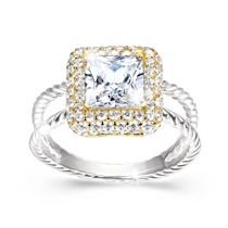 Touch Of Gold Women's Diamonesk Ring: Pretty As a Princess