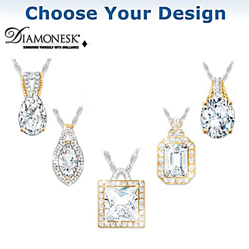 """Touch Of Gold"" Diamonesk Necklace: Choice Of 5 Designs"