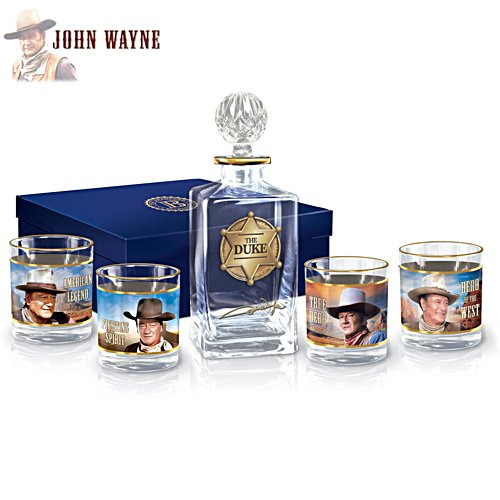 John Wayne: American Legend Five-Piece Decanter and Glasses Set