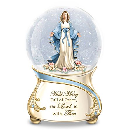 """Blessed Mary"" Musical Glitter Globe"