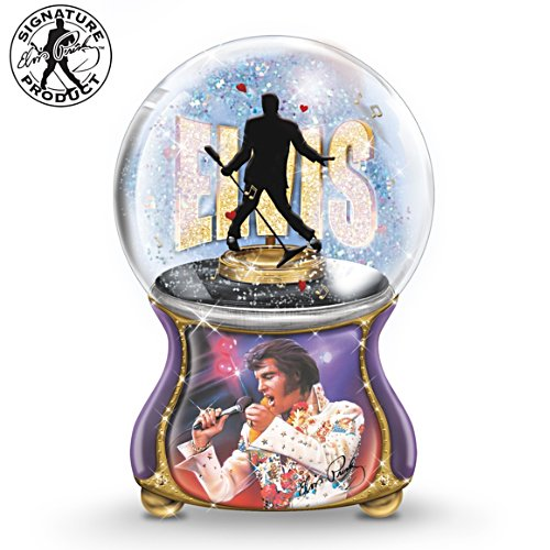 Elvis™: Burning Love Globo con brillantini