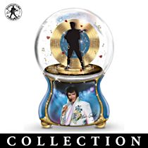 Elvis Presley Burning Love Musical Snow Globe Collection