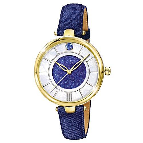 Für immer in Blau – Denim Damen-Armbanduhr