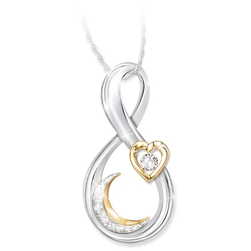 Granddaughter, I Love You To The Moon And Back Diamond Necklace