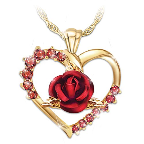 """Forever Yours"" Women's Ruby Pendant Necklace"