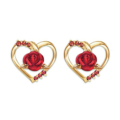 'Forever Yours' Ladies' Ruby Earrings