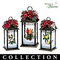 """""""Nature's Glory"""" Songbird Lighted Lantern Collection"""