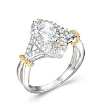 Touch Of Gold Women's Diamonesk Ring: Marvellous Marquise