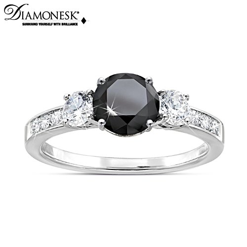 Schwarze Brillanz – Diamonesk-Ring