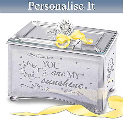 """Daughter, You Are My Sunshine"" Personalised Music Box"