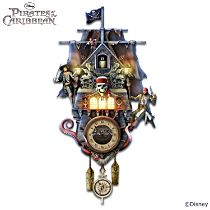 Disney Pirates Of The Caribbean Illuminated Wall Clock