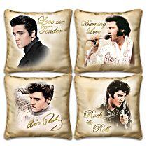 Elvis Presley Four Pillow Set