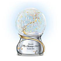 'My Daughter, You Are My Shining Star' Glitter Globe