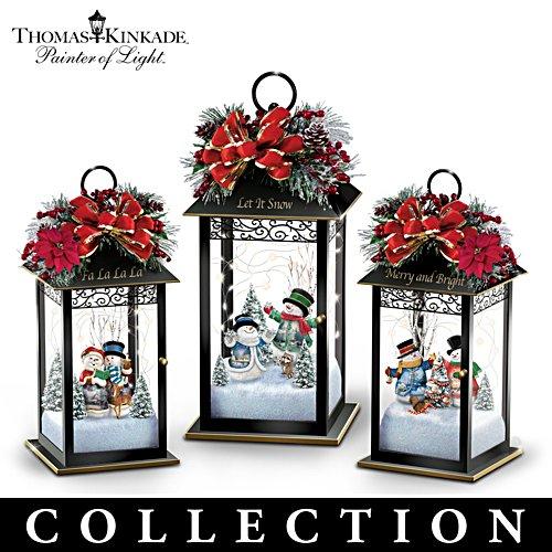 Thomas Kinkade 'Sparkling Snowfall' Table Centrepiece Collection