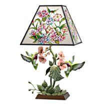 'Garden Of Light' Birds Stained Glass Lamp