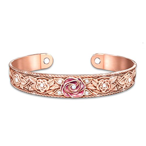 'Nature's Healing Beauty' Solid Copper Cuff Ladies' Bracelet