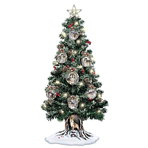 Sovereigns Of The Forest Illuminated Musical Tabletop Christmas Tree
