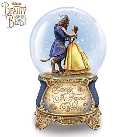 "Disney ""Beauty And The Beast"" Musical Snow Globe"