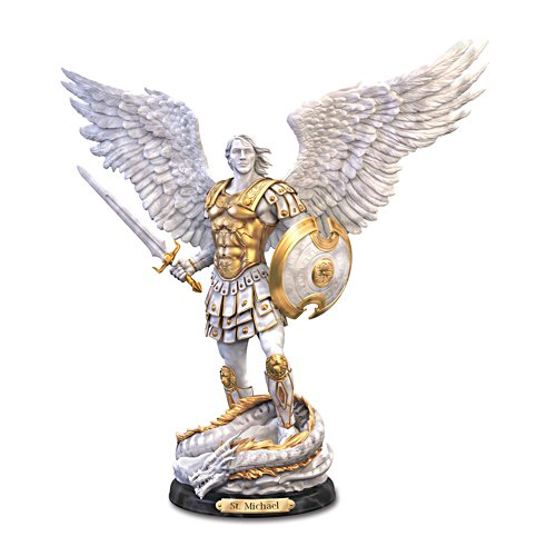 """St. Michael: Victorious"" Cold-Cast Marble Sculpture"