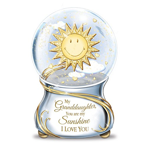 My Granddaughter, You Are My Sunshine Musical Snow Globe