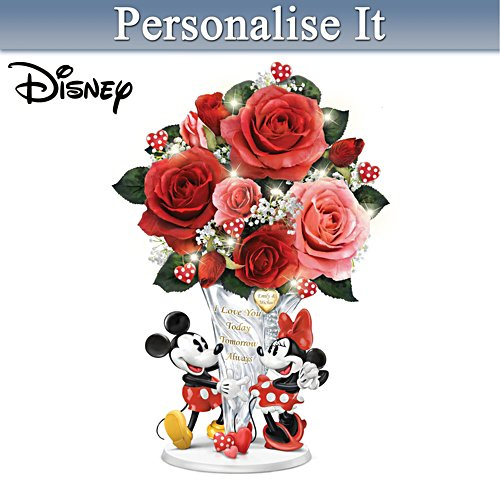 Disney Personalised Crystal Vase Centrepiece With Lights