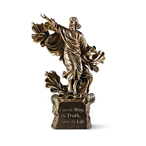 Ich bin der Weg — Beleuchtete Jesus-Skulptur