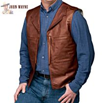 John Wayne Replica Men's Leather And Suede Vest