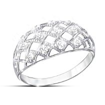"""Diamond Dazzle"" Women's Lattice Design Diamond Ring"