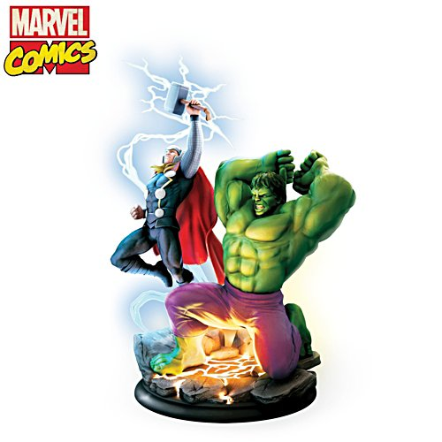 MARVEL Avengers Assemble 'Hulk and Thor' Illuminated Sculpture