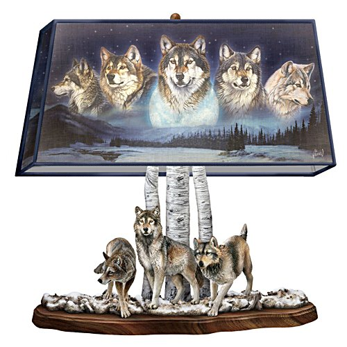Mystische Wächter – Wolf-Tischleuchte