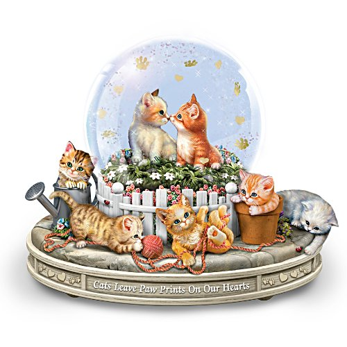 """Paws-itively Precious"" Rotating Musical Snow Globe"