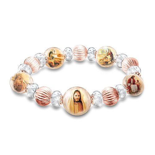"Greg Olsen ""Heaven's Grace"" Copper And Porcelain Bracelet"
