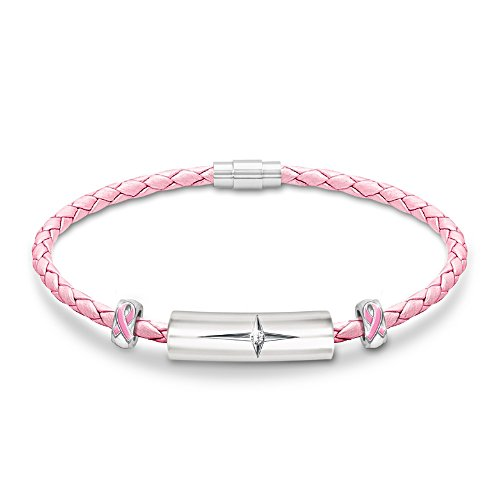 """Strength Of Hope"" Breast Cancer Awareness Diamond Bracelet"