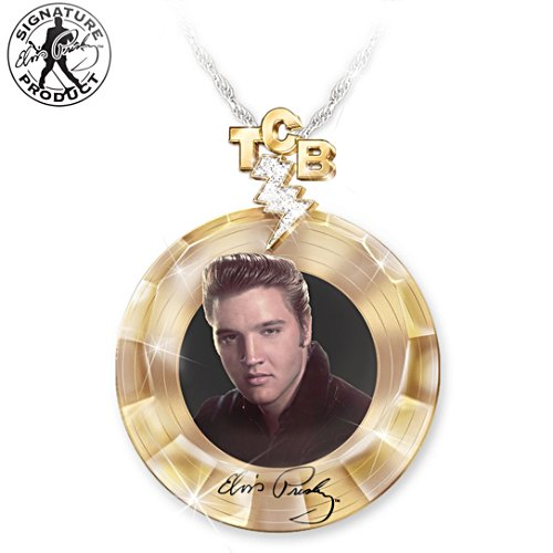 """Elvis Gold Record"" Pendant Necklace"