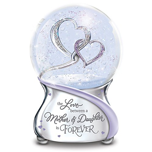 Love Between Mother And Daughter Musical Snow Globe