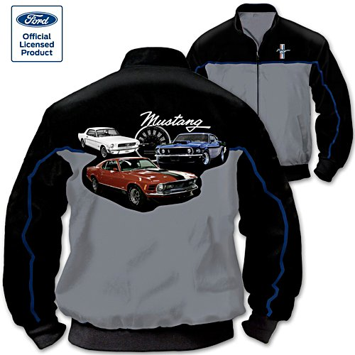 Mustang Men's 2-Tone Black and Grey Twill Jacket