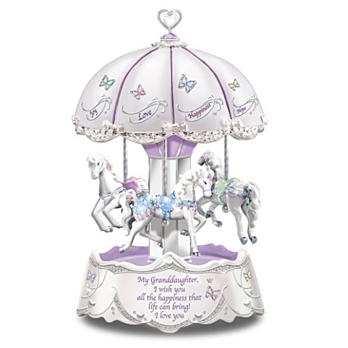 'Granddaughter, I Wish You' Illuminated Carousel Music Box