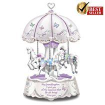 'Granddaughter, I Wish You' Illuminated Carousel Music Box