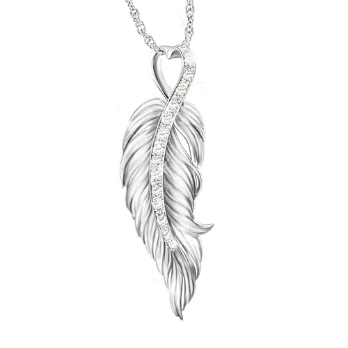 """When Angels Are Near"" Diamond Remembrance Necklace"