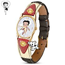 """Betty Boop"" Women's Watch With Mother-Of-Pearl Face"