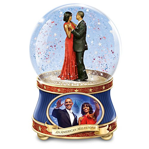 Barack & Michelle Obama – Schneekugel