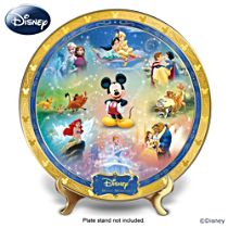 """""""Disney Magic Moments"""" Heirloom Porcelain Collector Plate"""