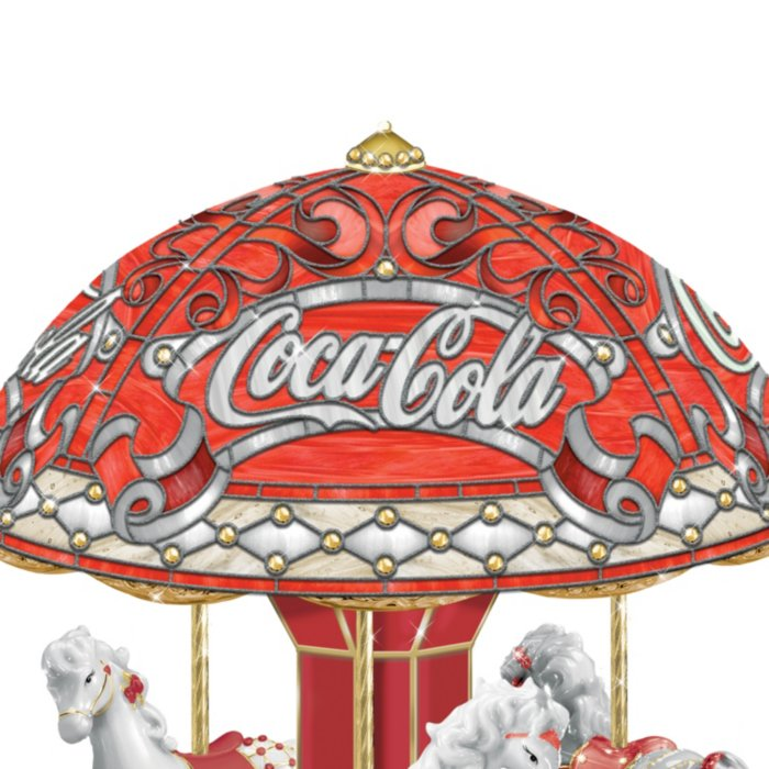 COCA-COLA Carousel Music Box With Lights And Motion