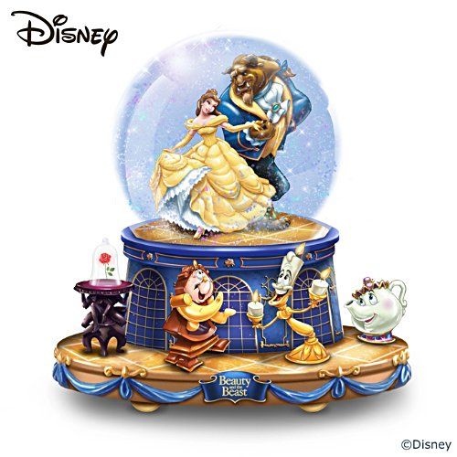 Disney Beauty And The Beast Rotating Musical Snow Globe