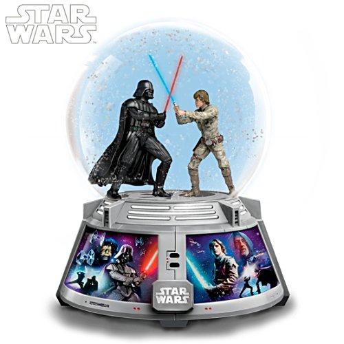 "STAR WARS ""Forces Of Light & Dark"" Lit Musical Snow Globe"