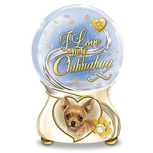 Chihuahua-Herzen – Schneekugel