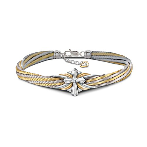 'Strength Of Faith' Ladies' Diamond Cable Bracelet