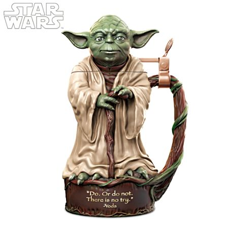 STAR WARS Yoda Jedi Master Heirloom Porcelain Stein