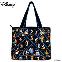 "Disney ""Relive The Magic"" Women's Tote Bag With Disney Charm"
